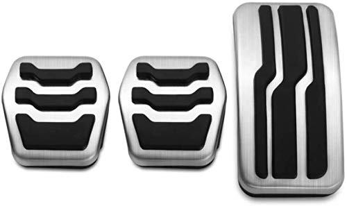 WERTYG Auto Gaspedale Bremspedal Set Covers Clutch Rast Fußpedale Cover, for Ford...