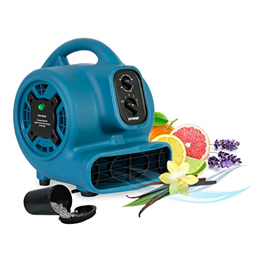 XPOWER Freshen Aire P-260NT 1/4 HP, 925 CFM, 4 Speeds Mini Mighty Scented Air Mover, Utility Fan, Dryer, Blower with Ionizer and Timer