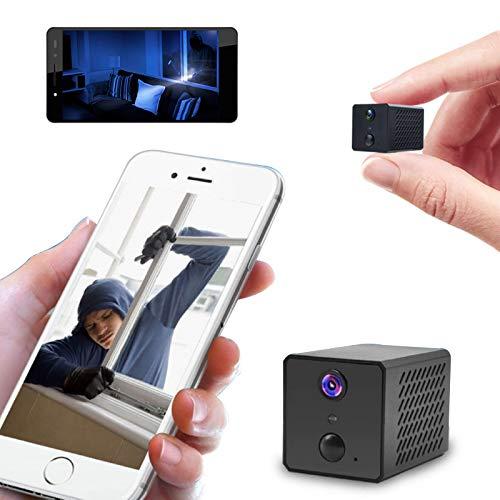 Mini Cámara Ip Wifi HD 1080p, Cámara de Seguridad Inalámbrica Remota Oculta Wifi, Visión Nocturna HD, Detección de Movimiento y Vintercomunicador de Voz, Cámara de Vigilancia de Seguridad Portátil