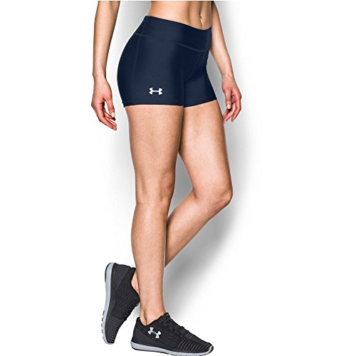 """Under Armour Women's On The Court 3"""" Shorts,Midnight Navy /White, Large"""
