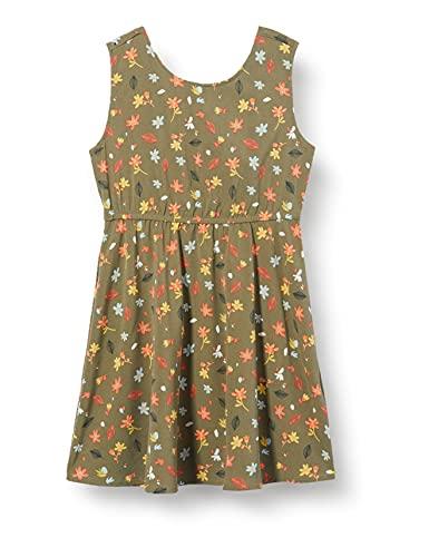 Name It NKFDILLA SL Dress Vestito, Verde-Deep Lichen Green, 152 Bambina