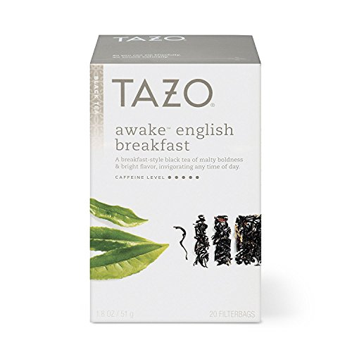 Tazo Awake English Breakfast Tea Bags For a Bold Traditional Breakfast-Style Tea Black Tea Highly Caffeinated Tea 20 Tea Bags 6 ct