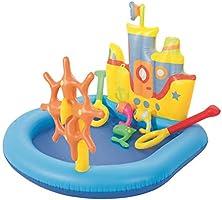 حوض سباحة قابل للنفخ على شكل مركب جرار للاطفال من بيست واي 52211