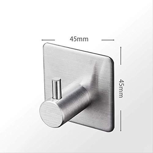 Mirror-Ac Sus 304 Roestvrijstalen zelfklevende haakjes, vierkant, badjas, handdoek, keuken, haak voor badkamer en keuken