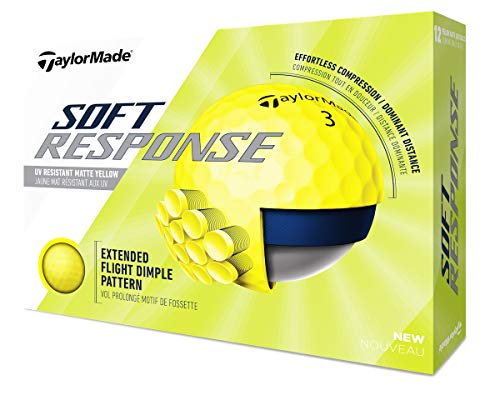 TaylorMade Unisex's TM20 zachte reactie YLW dzn golfbal, geel, één maat