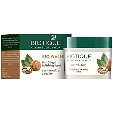 Biotique BIO WALNUT Purifying & Polishing Scrub 50gm/1.76Oz. I For Normal To Dry Skin I Sweeps Away Dry Lines And Leaves Skin smooth, Soft And Spotlessly