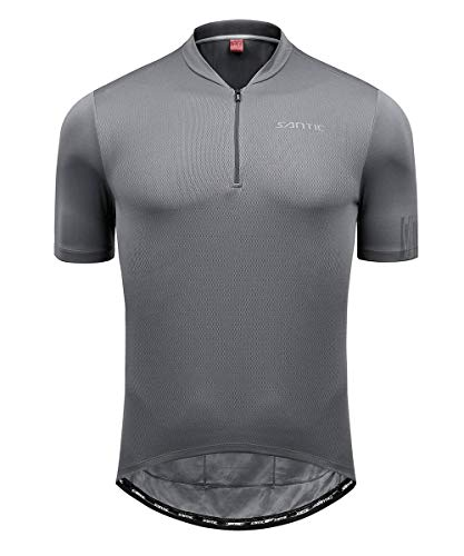 Santic Cycling Jersey Men Bike Jersey Cycling Jacket Reflective Breathable Moisture Wickin and Quick Dry