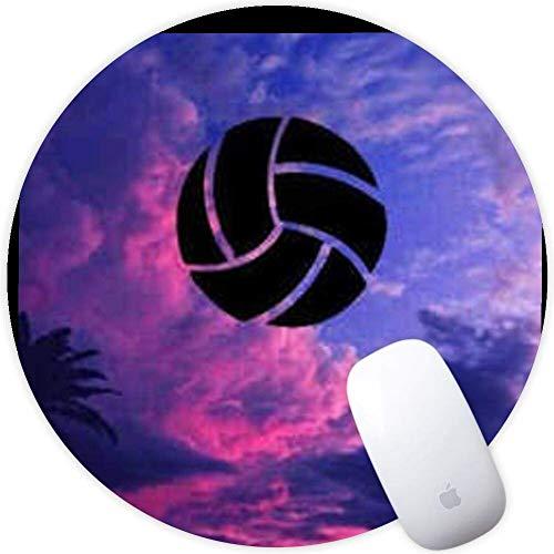 Runde Mauspad Gummi rutschfeste Mauspad für Studenten Home Office Volleyball geringes Gewicht