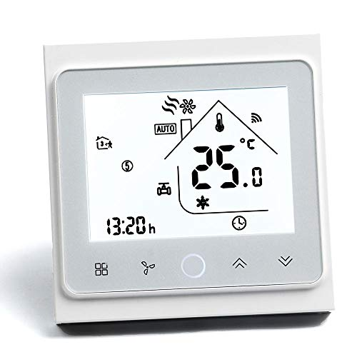 Arxus WiFi Programable Smart Termostato Pantalla LCD Controlador de Temperatura para Calderas de Calefacción/Aire Acondicionado Trabaje con Alexa Goo
