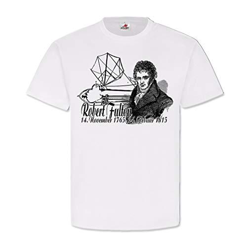Robert Fulton Ingenieur Uitvinding Plan eerste U Boot 1806 T Shirt # 25759