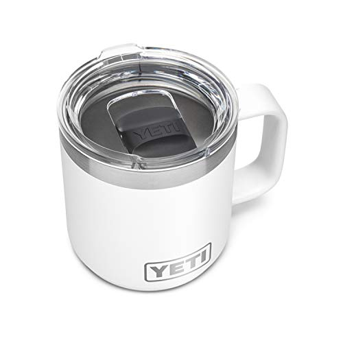 YETI Rambler 10 oz Stackable Mug, Vacuum Insulated, Stainless Steel with MagSlider Lid, White