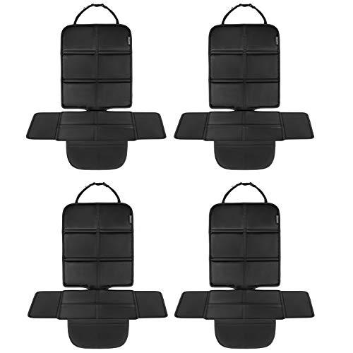 8safe Protector Asiento de Coche Universal Tela de Oxford 210 Impermeable Compatible con ISOFIX Ligero Con Bolsillos Disenado Especialmente con las Alas Protectoras que mas Cubren del Mercado