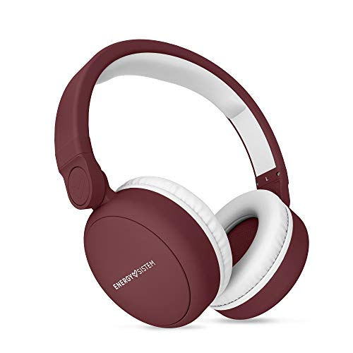 Energy Sistem Headphones 2 Bluetooth(Auriculares inalambricos,Circumaural, Plegable, bateria Recargable,Audio-in) Rojo