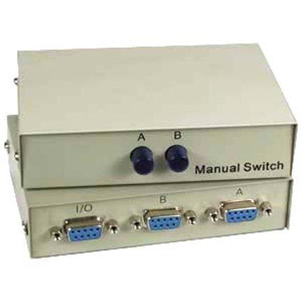 Sf Cable 2-way Db9 Female Ab Serial Or Ega Monitor Switch Box