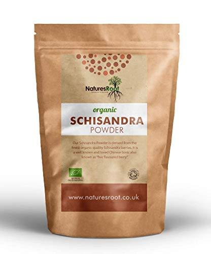 Nature's Root Organic Schisandra Powder 250g - Schisandra Berry | Daily Tonic | Gluten Free | Traditional Chinese Medicine | Certified Organic