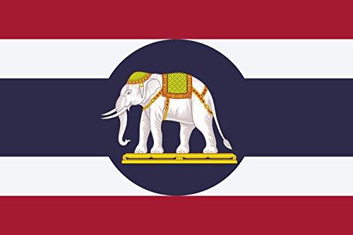 magFlags Drapeau Large Ambassador Flag of Thailand | Ambasador Flag of Thailand Proposed by Vajiravudh in 1917. It Features Triranga surmounted with Blue Circle | ??????????? ????????????????????????