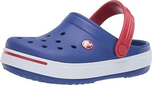 Crocs Kids Crocband II (Toddler/Little Kid) Cerulean Blue/Pepper 8-9 Toddler