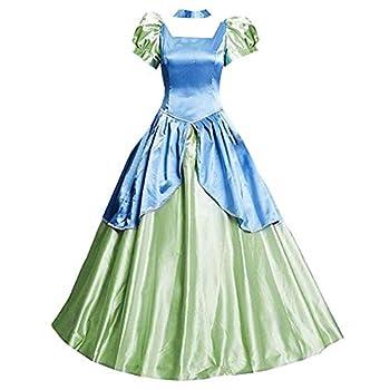 AGLAYOUPIN Adult Drizella Tremaine Cosplay Costume Fancy Blue Court Dress Halloween  S