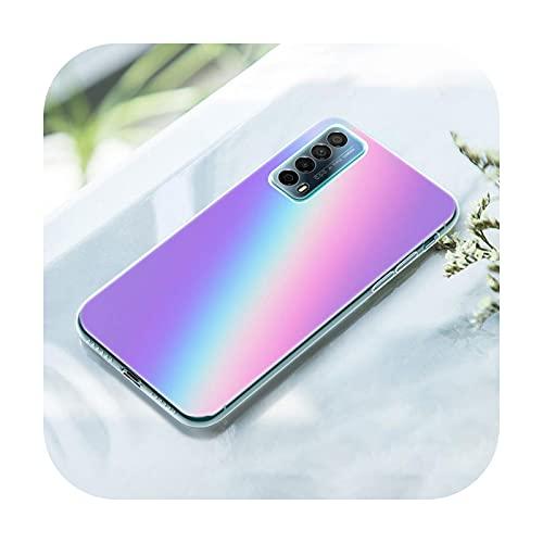 Gradient Rainbow picture - Funda para Huawei P50 Pro P40 Lite E P30 Pro P10 Plus P20 Lite P Smart Z 2021 Pro 2019 Soft Cover-006-P20 Lite
