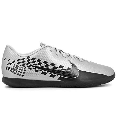 Nike Vapor 13 Club NJR IC_Chrome/Black-RED Orbit-Platinum Tint_AT7998-006-7 Unisex Silver Football Shoes (7 UK)