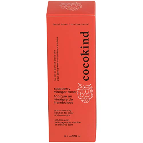 Cocokind, Facial Toner Raspberry Vinegar Organic, 4 Fl Oz
