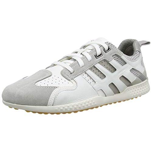 Geox U Snake.2 A, Sneakers Base Uomo, Bianco (White/Lt Grey C1995), 39 EU