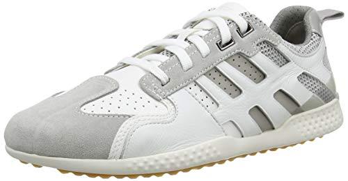 Geox Herren U SNAKE.2 A, Weiß (White/Lt Grey C1995), 44 EU