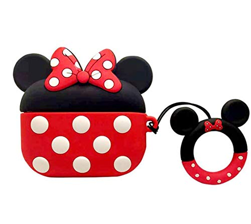 for Airpods Pro Case 3D Cute Soft Silicone Cartoon Minnie Mouse Camera Design Protect Case Best Gift for Women/Girls/Kids(#3)