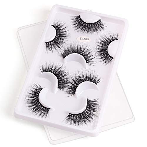 Women's Fashion Handmade Natural Soft Wispies Fluffies Long Thick Faux 3D Fake Eyelash False Eyelashes(Y4A06)