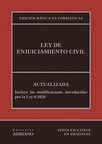 Ley de Enjuiciamiento Civil (Edición básica en formato A4): Actualizada, incluyendo la última reforma recogida en la descripción