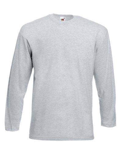 Fruit of the Loom Men's Cotton Value Long Sleeve T Shirt Heather XXL