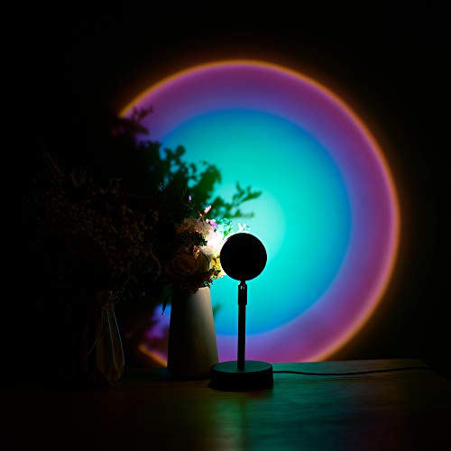 Sunset Lamp, Projector Rainbow Light 180 Degree Rotation Projection Led Night Light for...