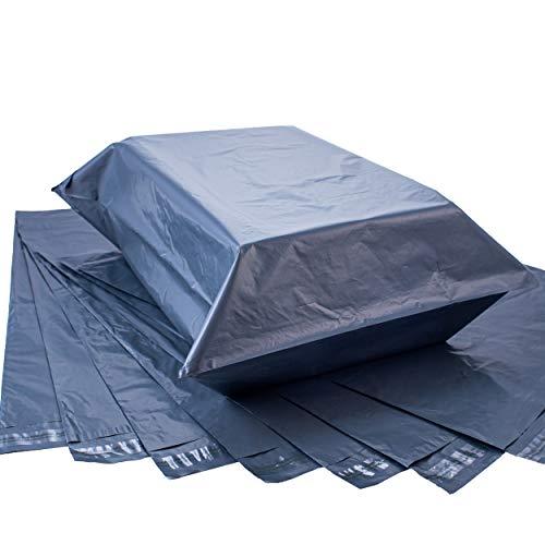 Stor plastpåse stor storlek 42 cm x 60 cm (17 tum x 24 tum) grå skickpåsar för postning och förpackning extra starka kuvert – postpolyeten självtätande väskor för kläder leverans (25)