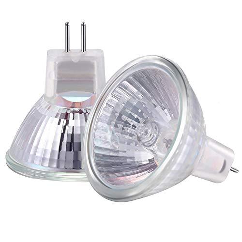 Moscare Halogen-Leuchtmittel, MR11, GU4, 20 W, 12 V, Warmweiß, 2700 K, 35 mm Durchmesser, 10 Stück