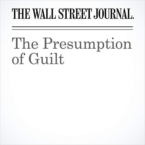 The Presumption of Guilt copertina