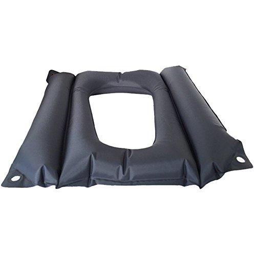 Byjia Air Cushion Anti-Escaras Pacientes con Orificio, Adecuado para La Silla De La Silla De Ruedas WC Cuidado, Negro, 45 × 37 × 33 Cm
