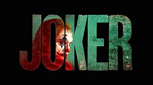 zhuifengshaonian Joker Comics película Joker Lienzo Pintura Carteles e Impresiones Arte de Pared Joaquin Phoenix Imagen para Sala de Estar decoración del hogar(Zt-1285) Sin Marco Poster 40x60cm