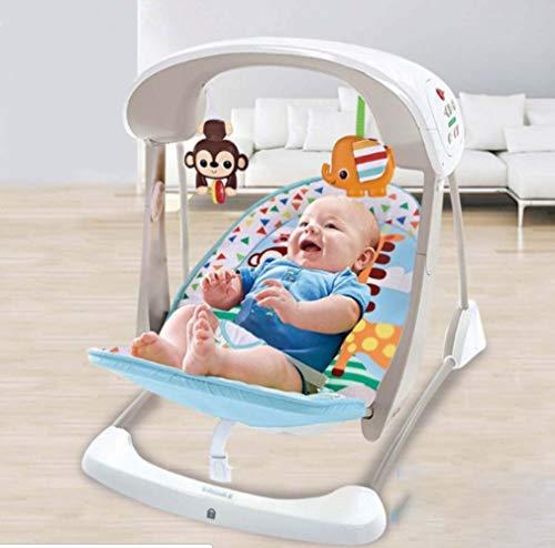 ZWQ kids Rainforest Friends Rocker du Nouveau-né au Bambin, videur du Nouveau-né et Utilisation comme Chaise de bébé, adapté à la Naissance,B