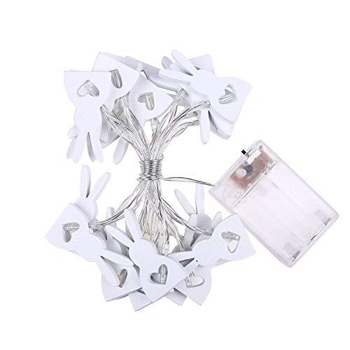 Dormitorio Pascua conejito encendido LED cabritos de la decoración de habitaciones bebé de la lámpara de mesa pared del cuarto de luz de la carpa Signos Vacaciones Luces de la Decoración ( Size : 2M )