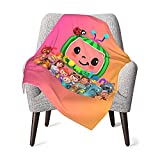 Cocomelon Tv Cartoon Baby Blanket for Boys and Girls,30 X 40 Inches,Baby Blanket Super Soft Warm Lovely Design