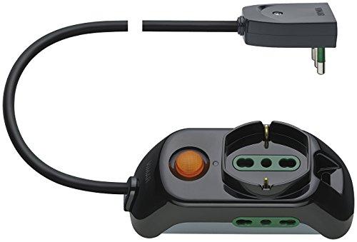Vimar FP00511.C universeel stopcontact met lichtschakelaar, 2 stopcontacten, 1 universeel stopcontact en lichtschakelaar