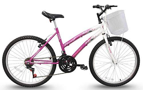Bicicleta Aro 24 Parati Branca e Magenta 21v, Track Bikes
