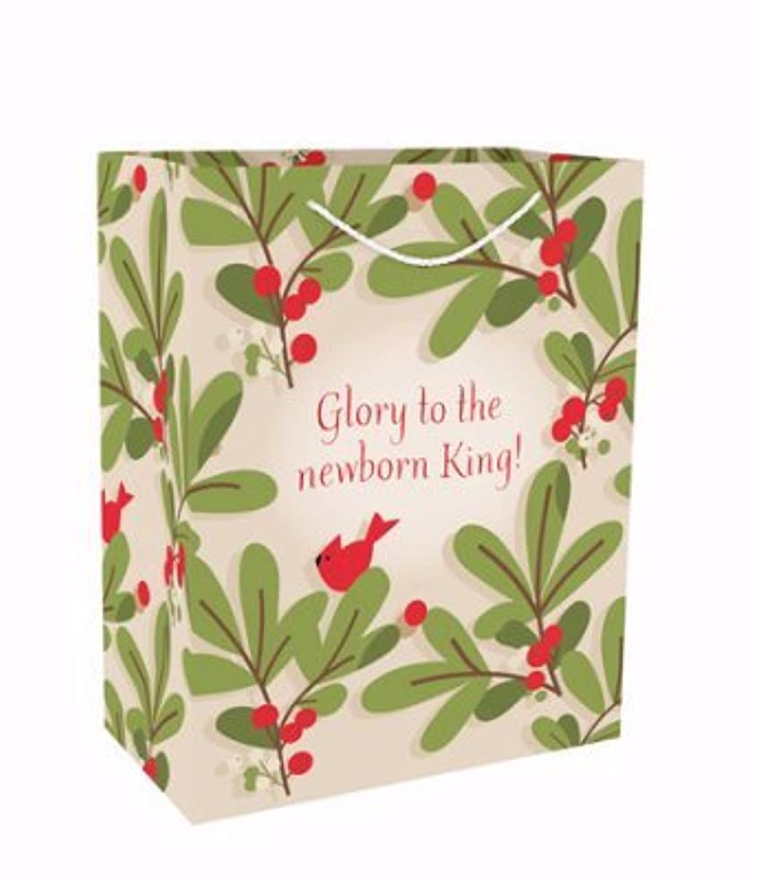 Large Value Gift Bag - Christmas - Holly Leaf