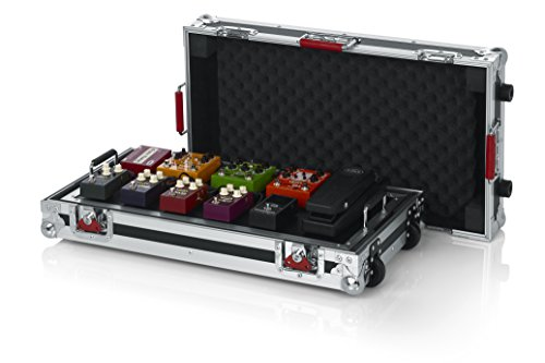 Gator Cases G-TOUR Series Gutiar Pedal board with ATA Road Case, Wheels and Pull Handle; Large: 24' x 11' (G-TOUR PEDALBOARD-LGW)