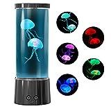 lampada meduse USB Lava lamp lampada per acquario con meduse Jellyfish Lamp LED con 17 cambia colore Regalo per Bambini Uomini Donne, Compleanno, Natale, Scrivania e la casa Decorazione