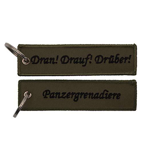 Café Viereck ® Bundeswehr Panzergrenadiere Schlüsselanhänger mit Öse und Ring – 12 cm x 3 cm