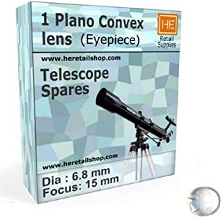 1 Plano Convex Lens Dia, for Telescope Eyepiece Optical Experiments (6.8 mm Focus 15 mm)