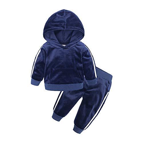 BEDHRT - Conjunto chándal manga larga capucha, abrigo