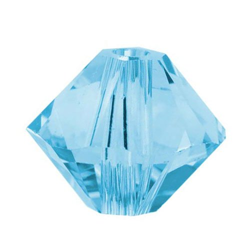 Swarovski ELEMENTS Crystal #5328 3mm Bicone Beads Aquamarine (25 Beads)
