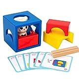 F Fityle Juego de Aventuras de Gatito de Madera Juego de Apilamiento a Juego Puzzle Bocks para Niños